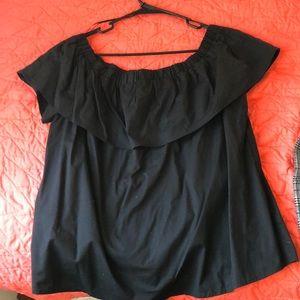 NWT off the shoulder black top